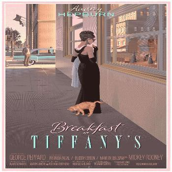 'Breakfast at Tiffany's' by Laurent Durieux. 'Breakfast at Tiffany's' by Laurent Durieux.