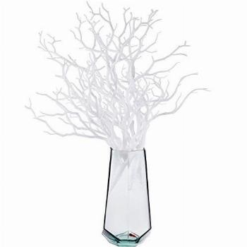Chuangdi 8 Pieces Artificial Plastic Stems Artificial Dry
