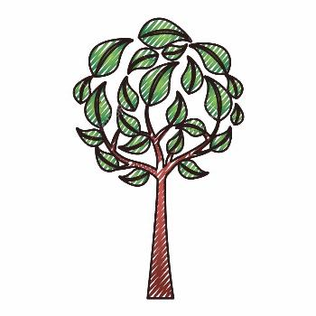 eco round tree leaves branches environment symbol vector illustration drawing graphic ,