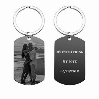 JOVIVI Personalized Custom Engraved Photo/Text Stainless