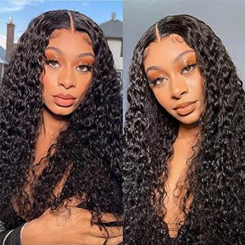 Lace Front Wigs Human Hair Deep Wave Lace Closure Wigs, 150%
