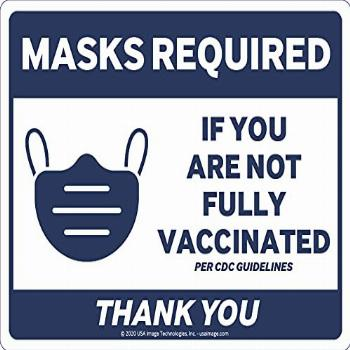 Mask Required If You are Not Vaccinated Sign (3-Pack) |