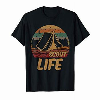 Scout Life Scouting Lovers Gifts Hiking Happy Camper T-Shirt