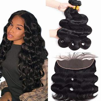 Sweetie Hair Body Wave Bundles with Frontal Human Hair (20