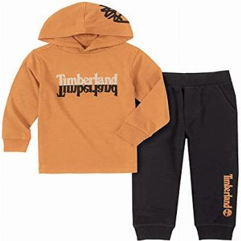 Timberland Baby Boys' 2 Pieces Hooded Pullover Pants Set,