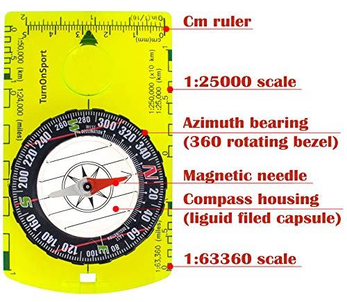 Orienteering Compass - Hiking Backpacking Compass - Advanced