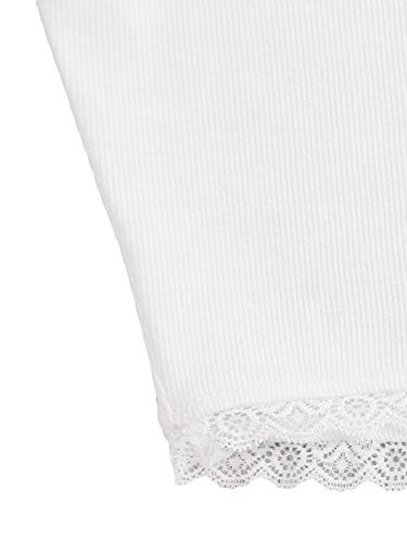 Verdusa Womens Scoop Neck Sleeveless Contrast Lace Solid